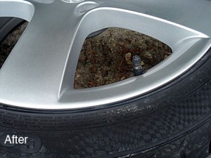 alloy wheel scuff damage